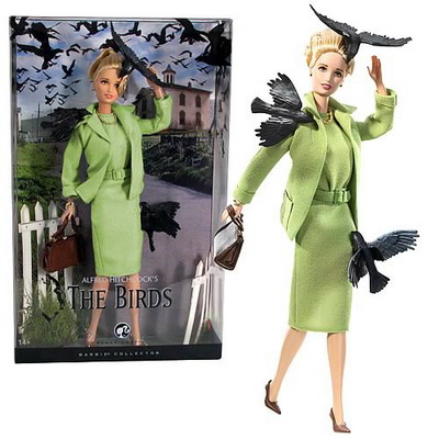 alfred hitchcock the birds barbie doll