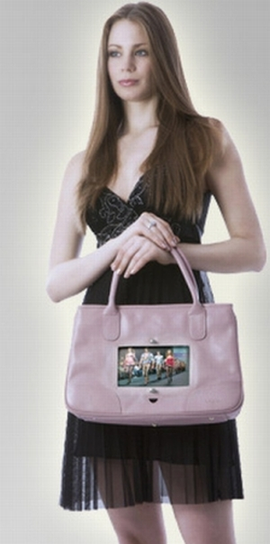 cool fashion bag with tv