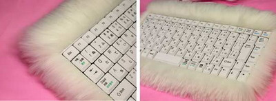 cool computer keyboard with fur