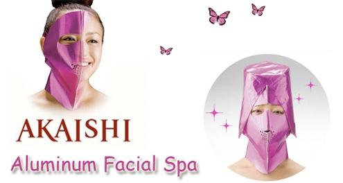 pink facial spa mask