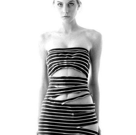 zipper woman dress