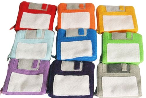 floppy disk drive purse