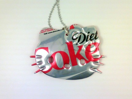 hello kitty necklace diet coke soda can