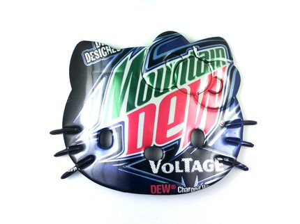 hello kitty necklace mountain dew voltage soda can