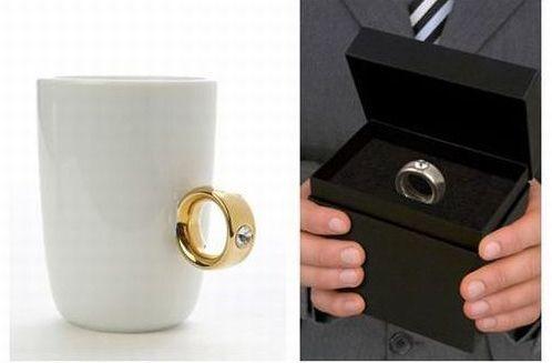 gold ring coffee mug design