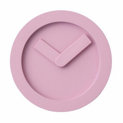 pixel icon pink clock design
