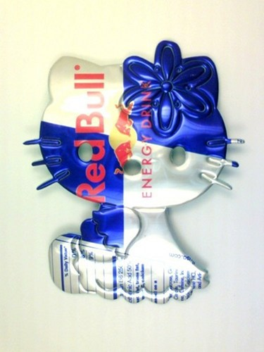 redbull hello kitty magnet
