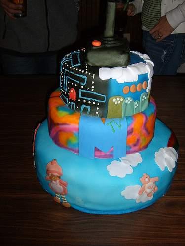 80s cake design