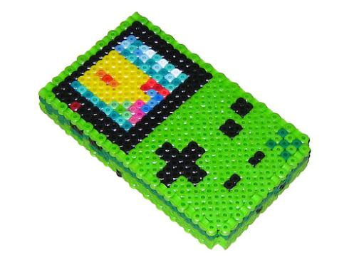 green gameboy color bead work
