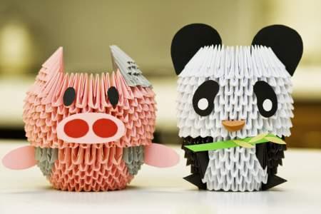 origami panda & pig
