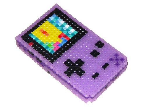purple gameboy color beadwork