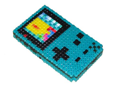 teal gameboy color beadwork