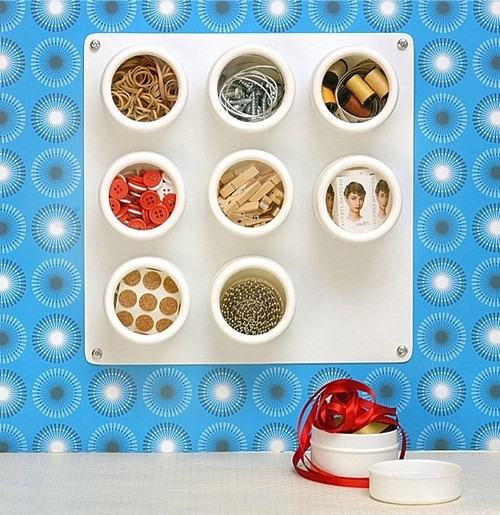 Magnetic Storage Containers White