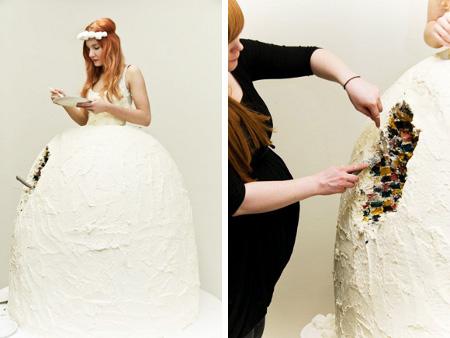 yummy dress cake