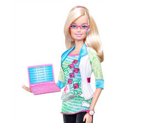 Computer engineer avatar Barbie 1