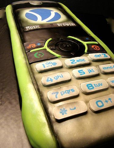 eco phone cake