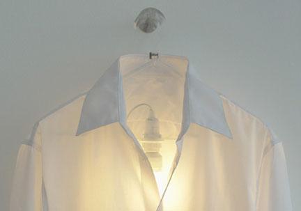 Clothes Hanger Lamp