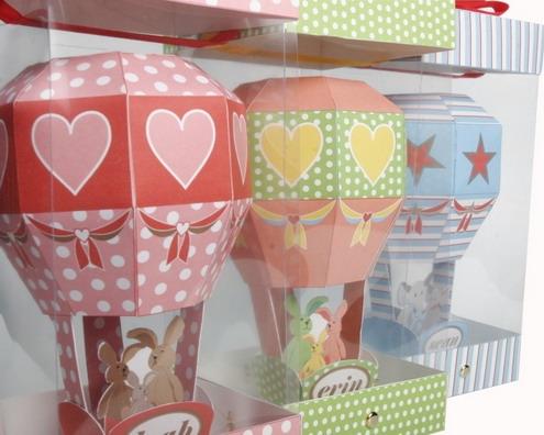 decorative paper train and air balloon5