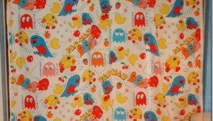 pacman shower curtain