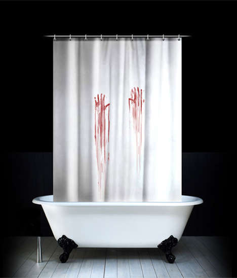 bloody shower curtain design for geeks 1