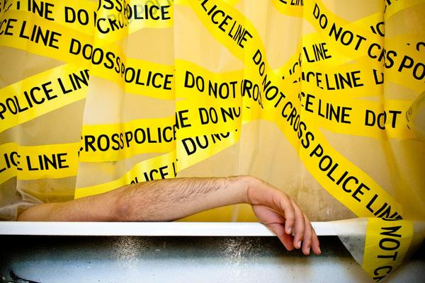 crime scene tape shower curtain design for geeks