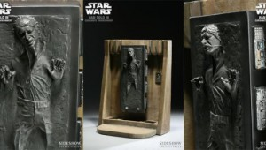 star wars han solo frozen in carbonite bookend design