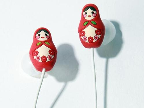 Matryoshka Doll Headphones Cooler than Earrings