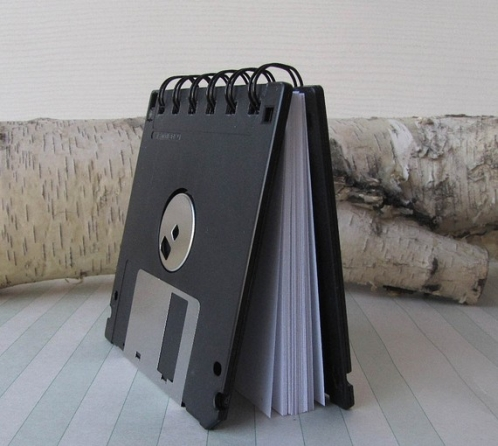 Recycled Floppy Disk Mini Notebook 3