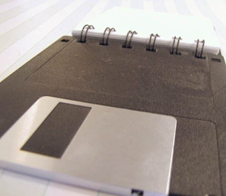 Recycled Floppy Disk Mini Notebook 4