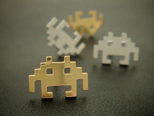 Space Invader Earrings Geeky Alien Ear Wear
