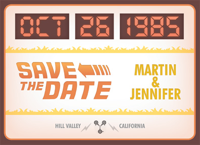 geeky save the date 9