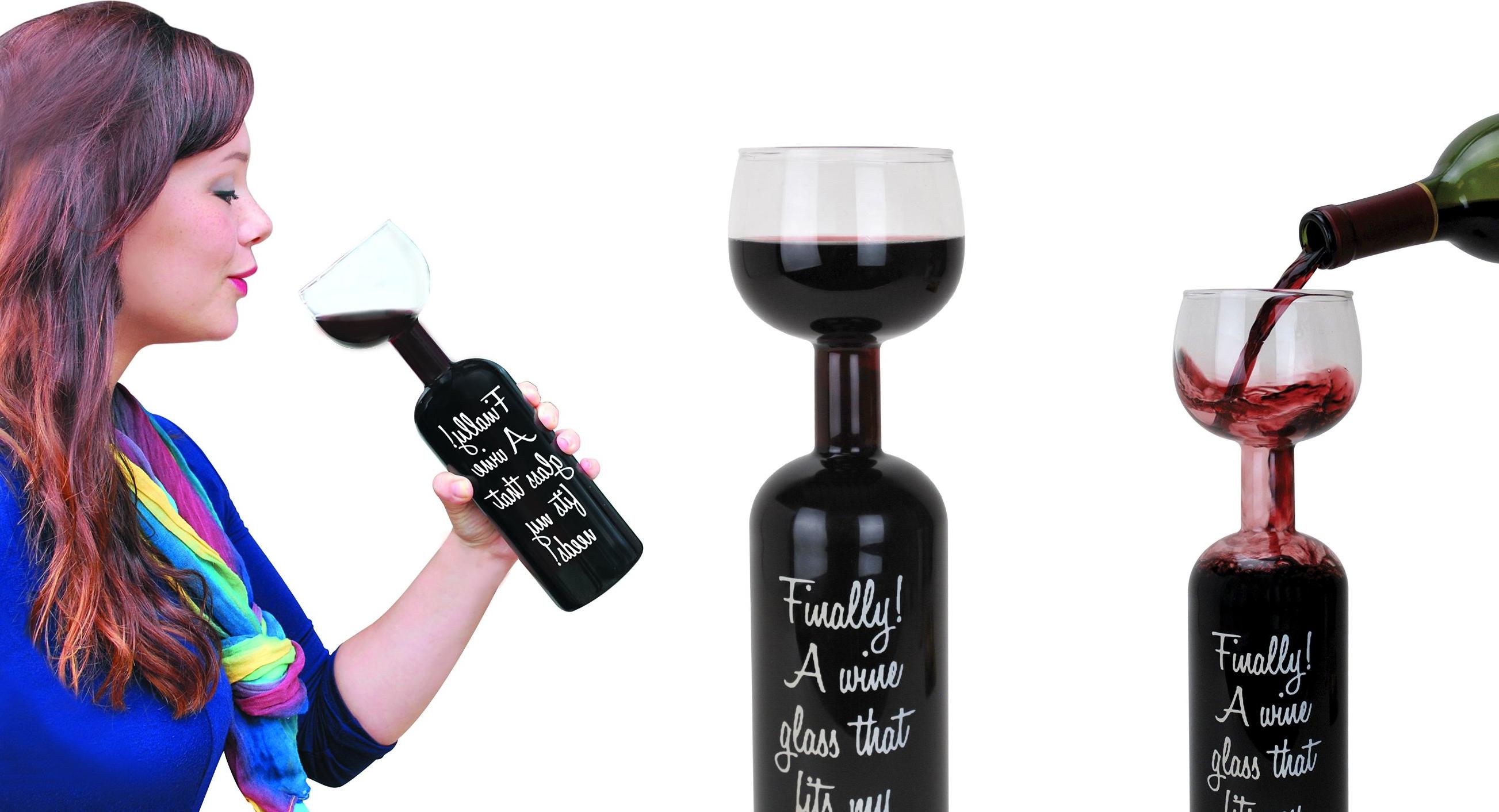unique  gift BigMouth Inc Ultimate Wine Bottle Glass