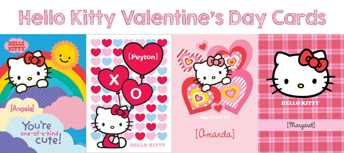 hello kitty valentines day cards