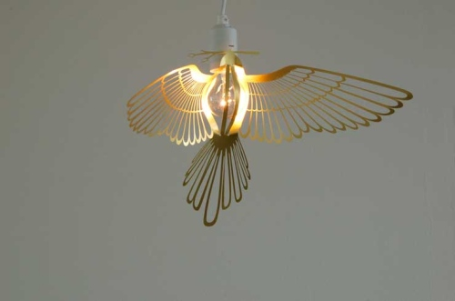 cool light design shaped like a bird