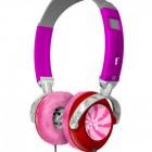 hot pink headphones with fur