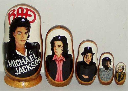 michael jackson matryoshka dolls