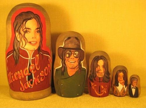 michael jackson russian nesting dolls