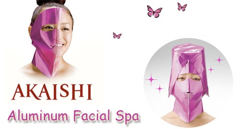 pink facial spa mask