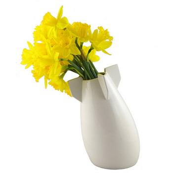 ceramic flower vase shaped like a bomb