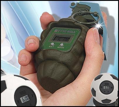 cool alarm clock hand grenade