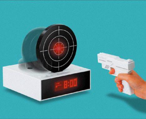 alarm clock laser target gun