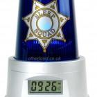 funny alarm clocks with police siren