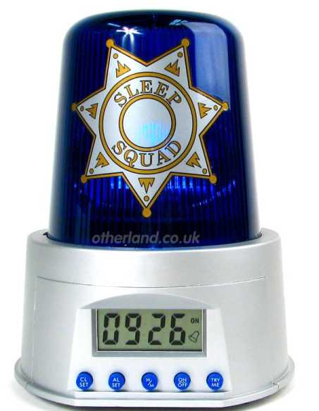 funny alarm clocks with police siren