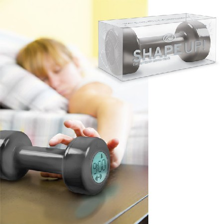 dumbbell weights alarm clock