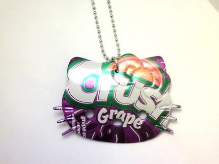hello kitty necklace grape crush soda can