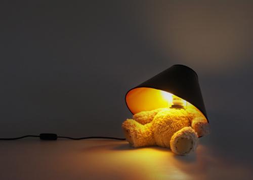 cute teddy bear lamp design