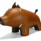 cute boar animal bookend design