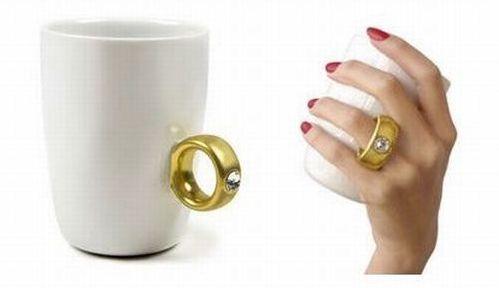 2 carat gold ring mug