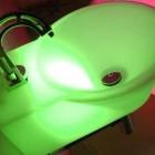 green led bathroom sink