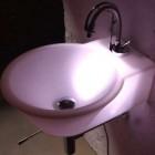 pink led bathroom sink